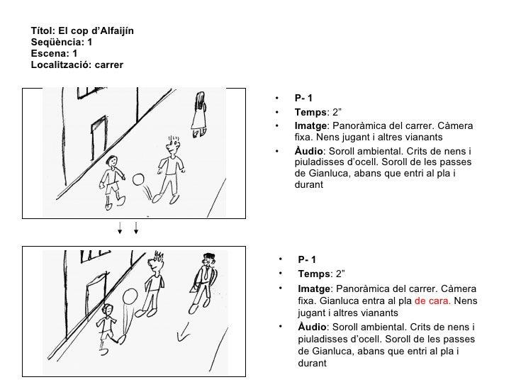 """Títol: El cop d'Alfaijín  Seqüència: 1 Escena: 1 Localització: carrer <ul><li>P- 1 </li></ul><ul><li>Temps : 2"""" </li></ul>..."""