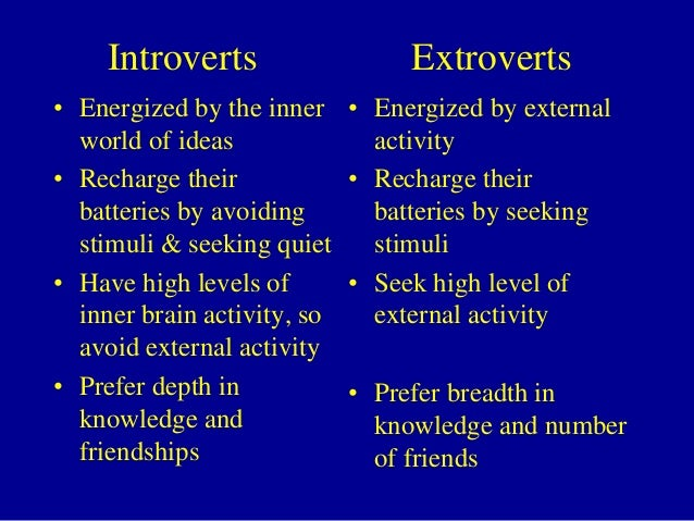 should an introvert dating an extrovert Here are five actionable tips for dating an introvert  are you in an introvert-extrovert relationship feel free to share your tips for making it work in the.