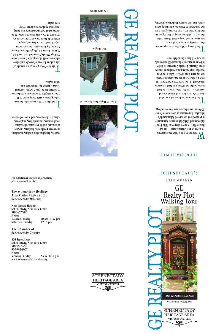 Ge Realty Plot Walking Tour Brochure