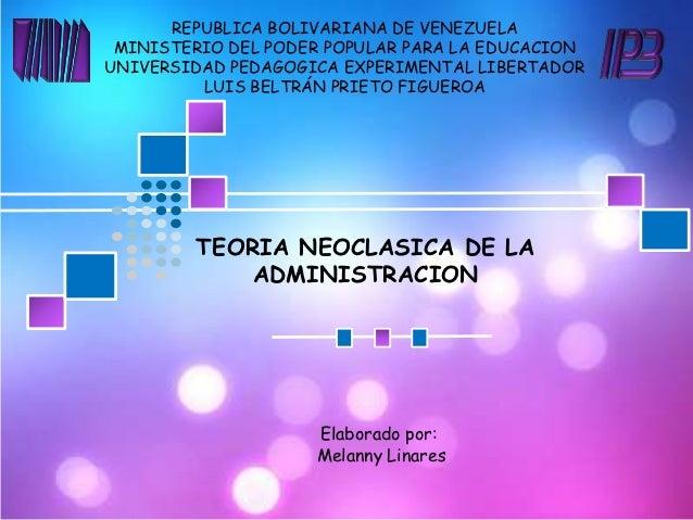REPUBLICA BOLIVARIANA DE VENEZUELA MINISTERIO DEL PODER POPULAR PARA LA EDUCACIONUNIVERSIDAD PEDAGOGICA EXPERIMENTAL LIBER...