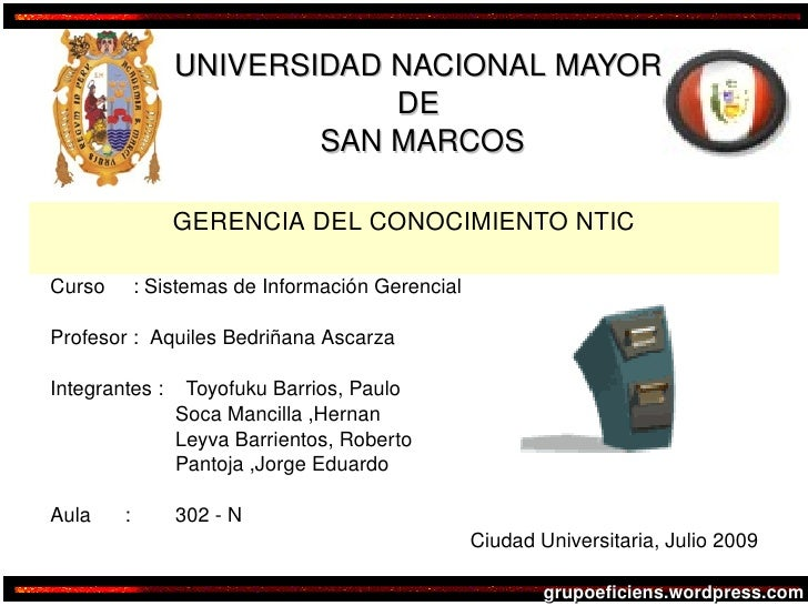 UNIVERSIDAD NACIONAL MAYOR                                  DE                              SAN MARCOS                    ...