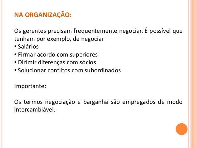 Habilidades Interpessoais: Negociação Slide 3