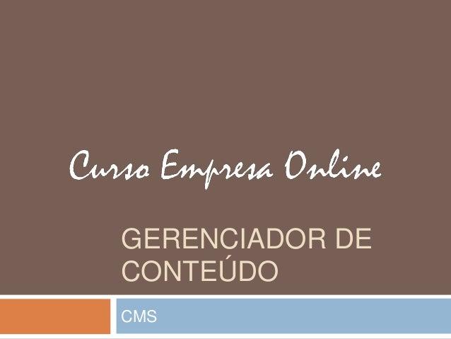 GERENCIADOR DE CONTEÚDO CMS