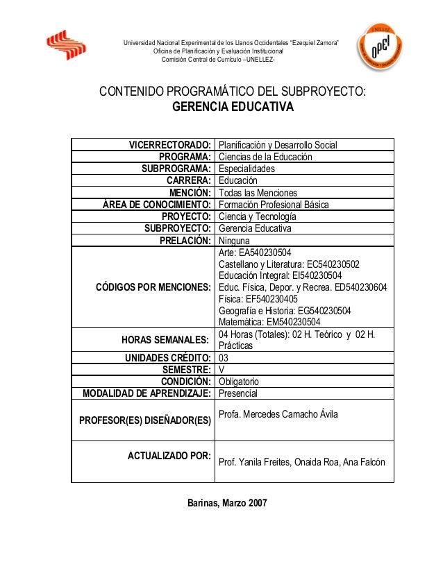 """Universidad Nacional Experimental de los Llanos Occidentales """"Ezequiel Zamora""""                   Oficina de Planificación ..."""