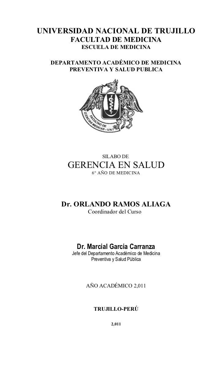 UNIVERSIDAD NACIONAL DE TRUJILLO       FACULTAD DE MEDICINA           ESCUELA DE MEDICINA  DEPARTAMENTO ACADÉMICO DE MEDIC...