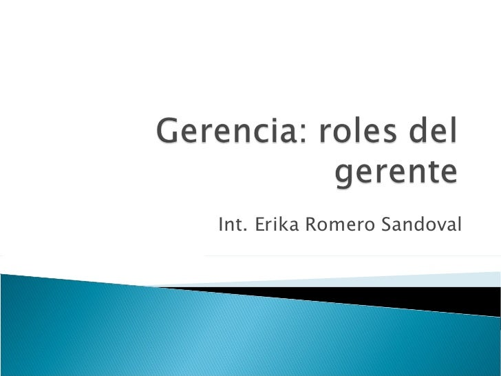 Int. Erika Romero Sandoval