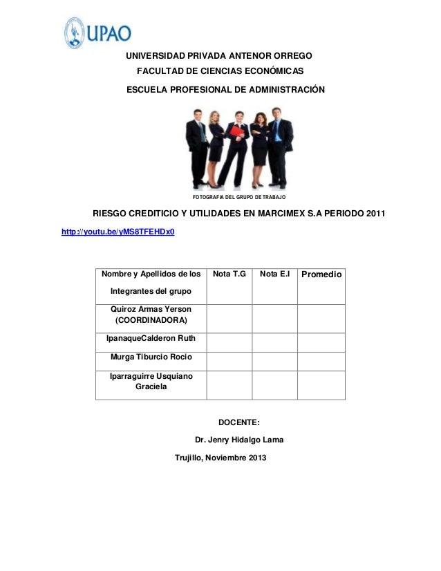 UNIVERSIDAD PRIVADA ANTENOR ORREGO                  FACULTAD DE CIENCIAS ECONÓMICAS               ESCUELA PROFESIONAL DE A...