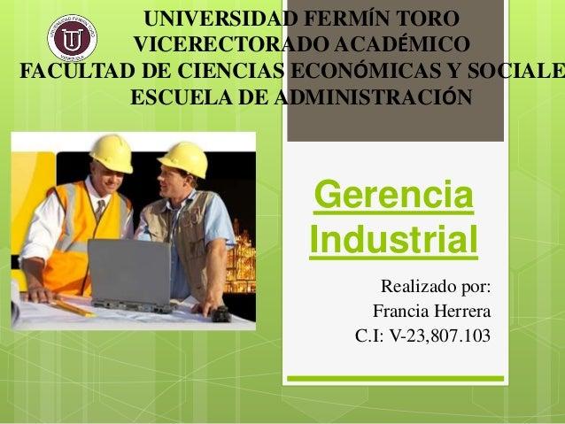 Gerencia Industrial Francia Herrera