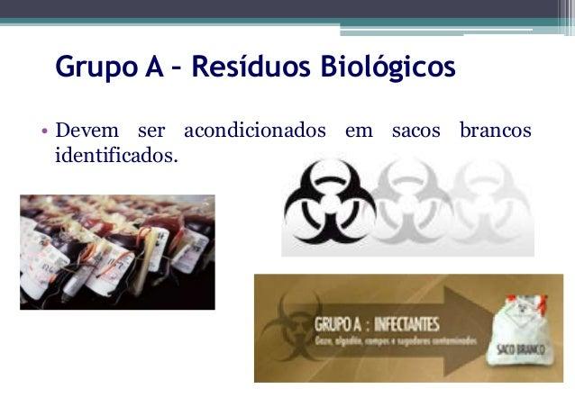 Grupo A – Resíduos Biológicos