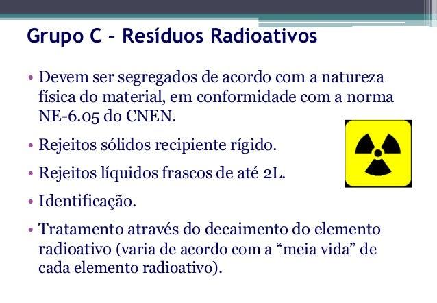 GRUPO D - RESÍDUOS COMUNSTodos os demais resíduos de estabelecimentos de saúde que não seenquadram nos grupos descritos an...