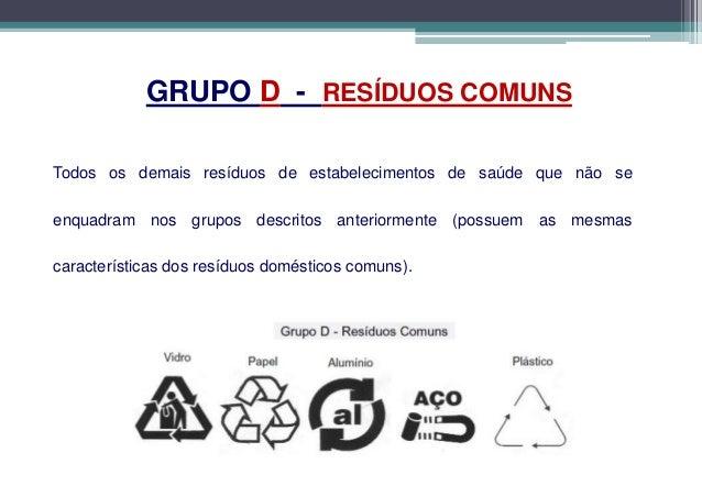 Grupo D – Resíduos ComunsCOLETA SELETIVA          •É    recolher      os resíduos           separadamente, conforme a     ...
