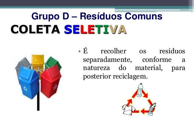 Grupo D – Resíduos ComunsO                 P                                Não RecicláveisR                 L     MG     ...