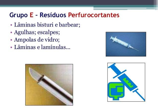 Grupo E – ResíduosPerfurocortantesCaixa Coletora