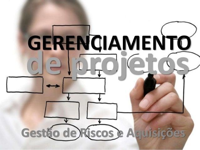 GERENCIAMENTO Gestão de Riscos e Aquisições de projetos