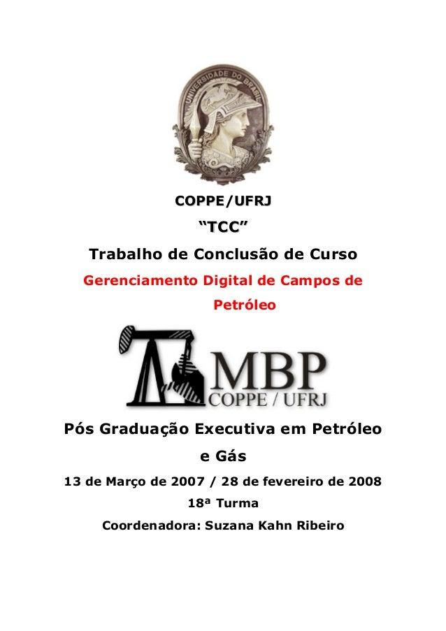 """COPPE/UFRJ                   """"TCC""""   Trabalho de Conclusão de Curso  Gerenciamento Digital de Campos de                   ..."""
