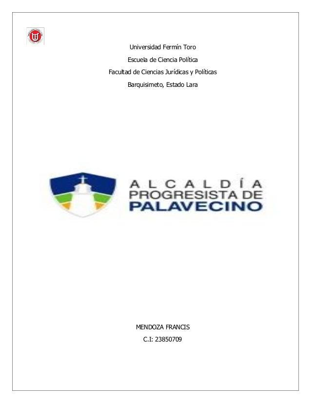 Estructura De La Alcaldía Del Municipio Palavecino Estado Lara