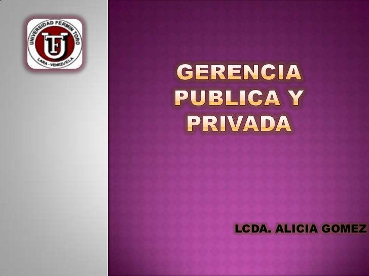 LCDA. ALICIA GOMEZ