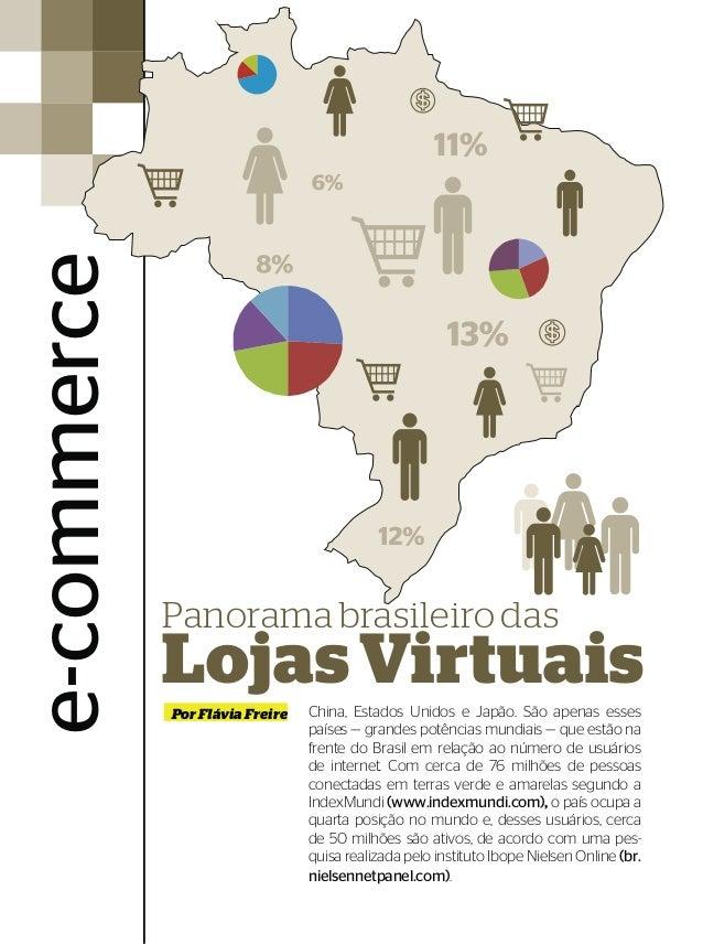e-commerce             Panorama brasileiro das             Lojas Virtuais      China, Estados Unidos e Japão. São apenas e...