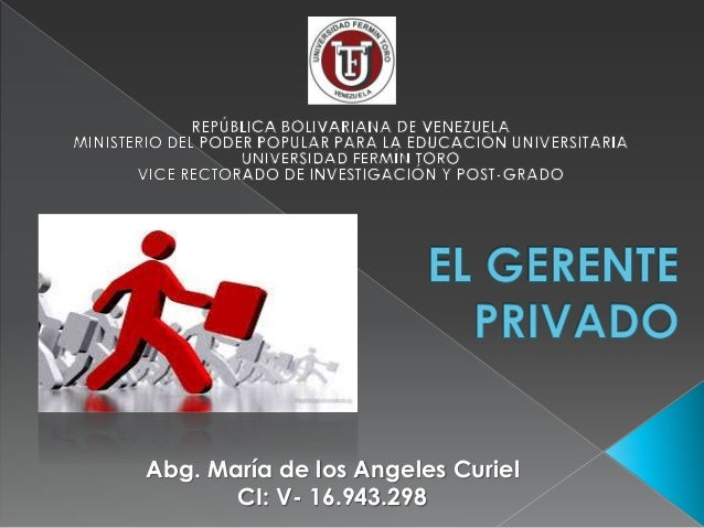 Abg. María de los Angeles Curiel  CI: V- 16.943.298
