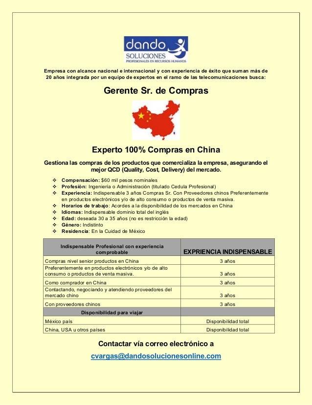 Empresa con alcance nacional e internacional y con experiencia de éxito que suman más de 20 años integrada por un equipo d...