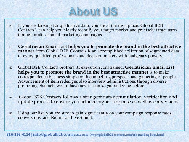 Geriatrician email list helps you to promote the brand in the best attractive manner Slide 2