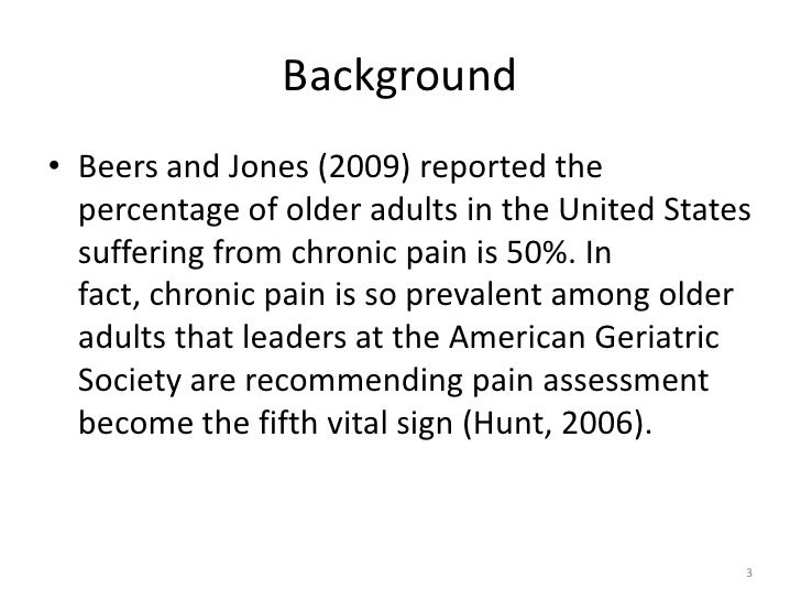 Geriatric Psychosocial Assessment Of Pain Induced Depression