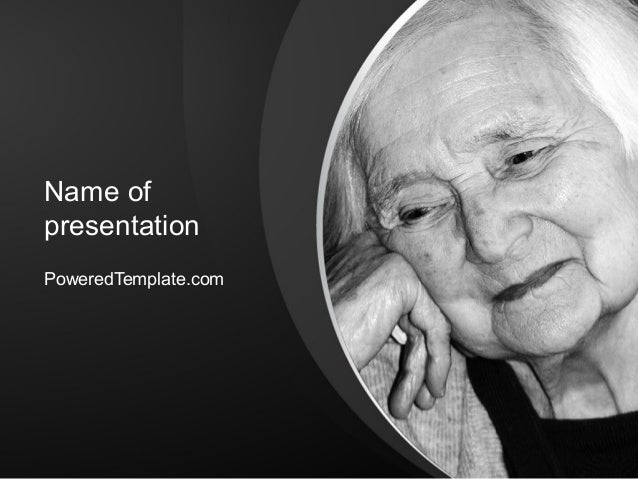 Geriatric woman powerpoint template by poweredtemplate name of presentation poweredtemplate toneelgroepblik Choice Image