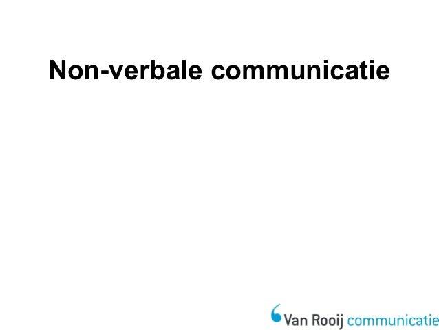 wat is verbale communicatie