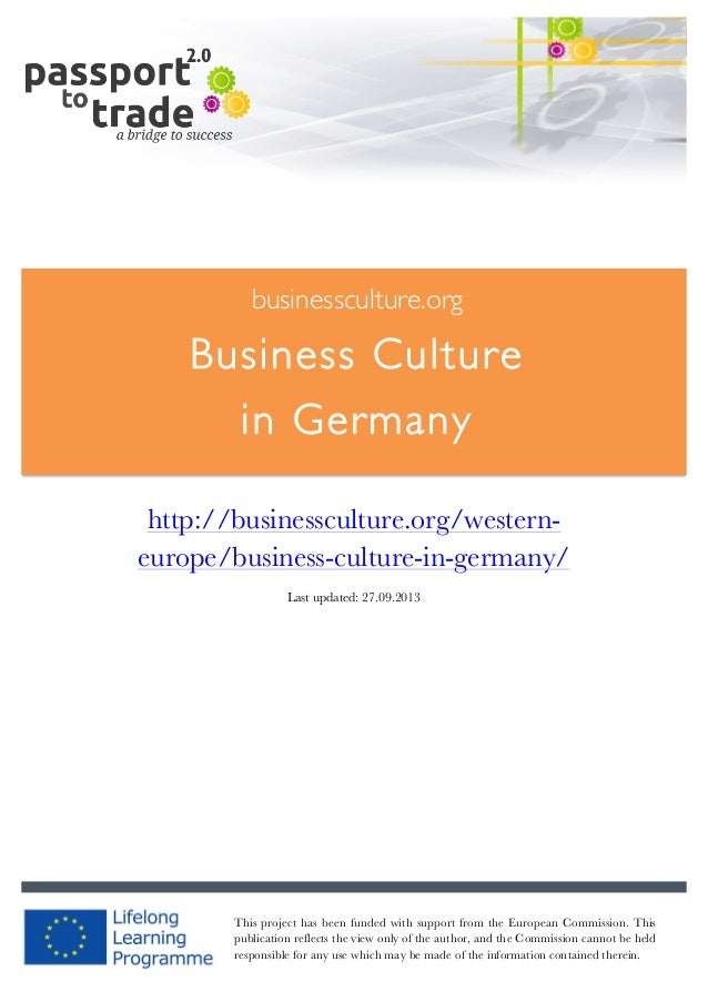 |	   1	     	     businessculture.org  Business Culture in Germany 	     http://businessculture.org/w...