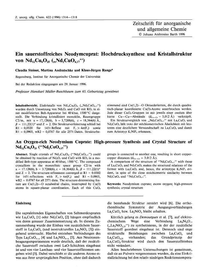 Z. anorg. allg. Chem. 622 (1996) 1314-1318                                                                                ...
