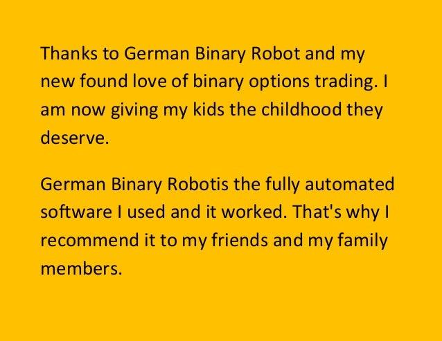 Binary option robot experience