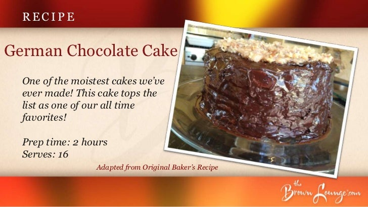 Baker S Bar German Chocolate Cake Recipe