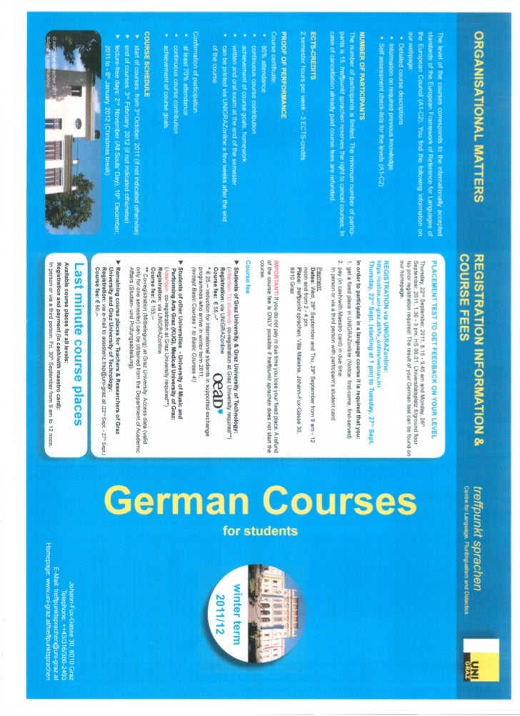 German courses for students