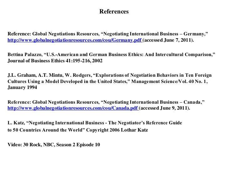 cross-cultural negotiation process in ib pdf