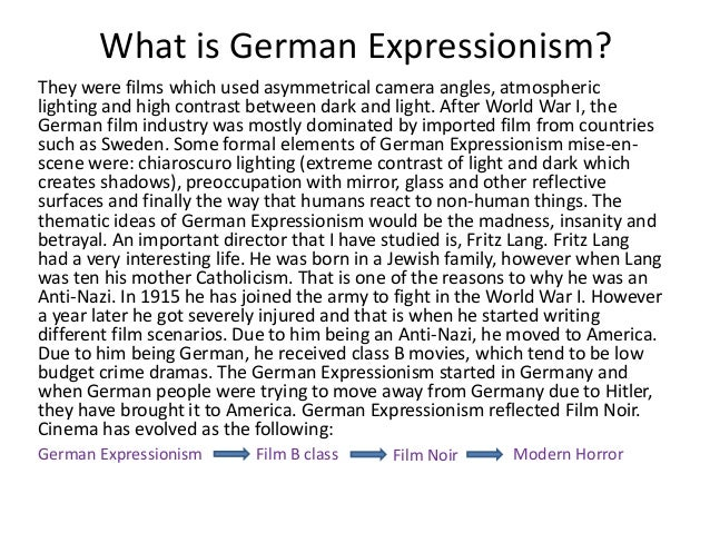 german expressionism in film pdf