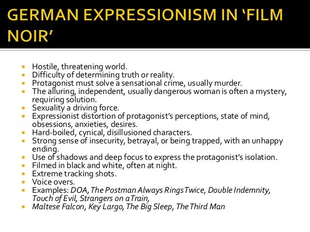 german expressionism film essay German expressionism is a movement that started post world war 1 throughout the film melinda alexander abstract expressionism in this essay.