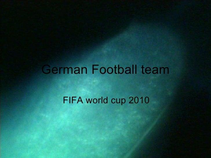 German Football team FIFA world cup 2010