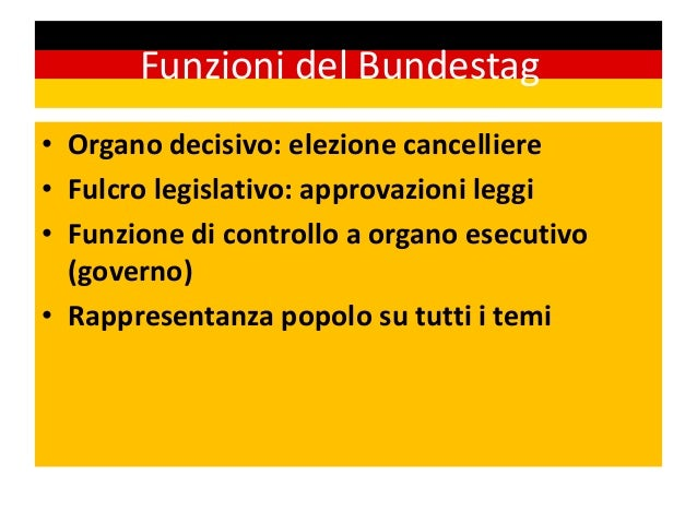 Germania for Funzioni parlamento italiano