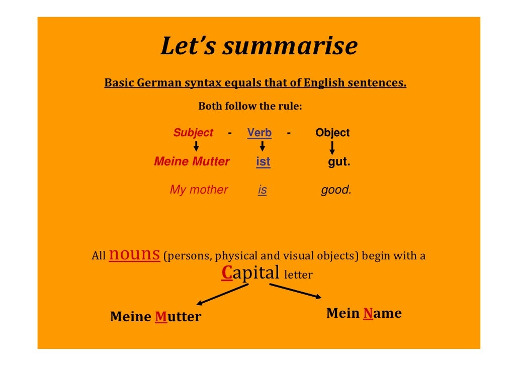 You have just mastered the first    steps to learning German