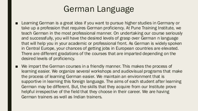 german language classes courses in pune pune training. Black Bedroom Furniture Sets. Home Design Ideas