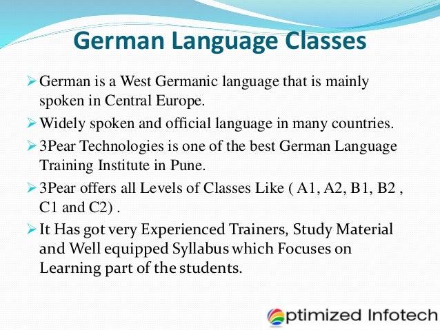 German a1 level syllabus