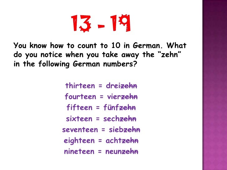 German numbers 11 20(1)