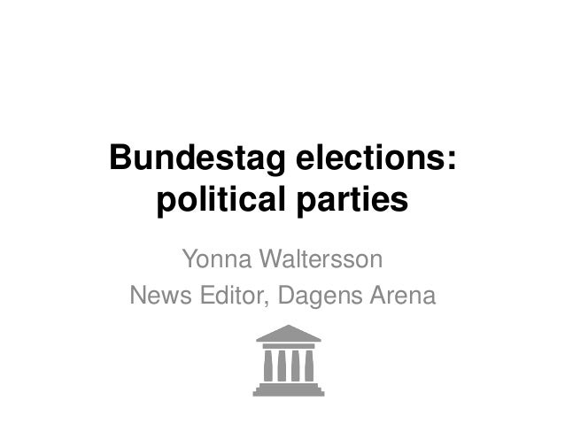 Bundestag elections:political partiesYonna WalterssonNews Editor, Dagens Arena
