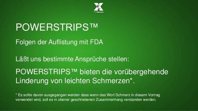 POWERSTRIPS™ Folgen der Auflistung mit FDA Läßt uns bestimmte Ansprüche stellen: POWERSTRIPS™ bieten die vorübergehende Li...