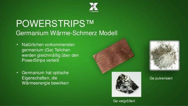 POWERSTRIPS™ Germanium Wärme-Schmerz Modell • Natürlichen vorkommenden germanium (Ge) Teilchen werden gleichmäßig über den...