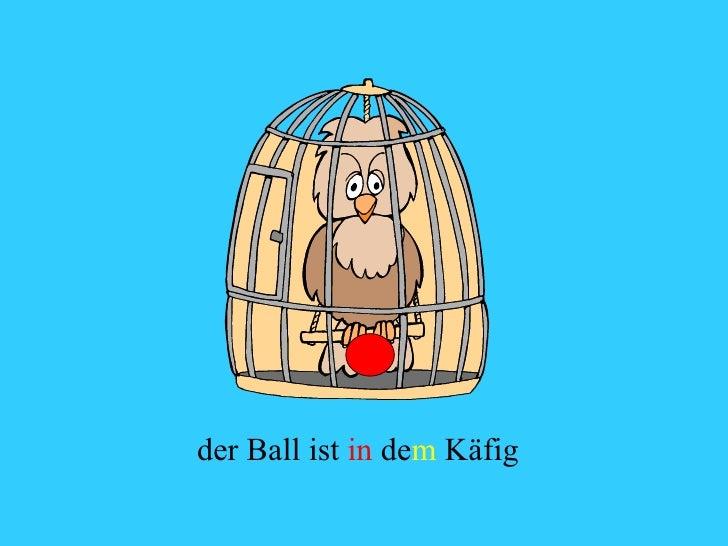 der Ball ist  in  de m  Käfig