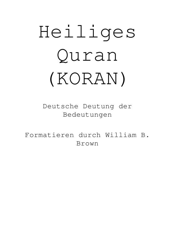 German Quran