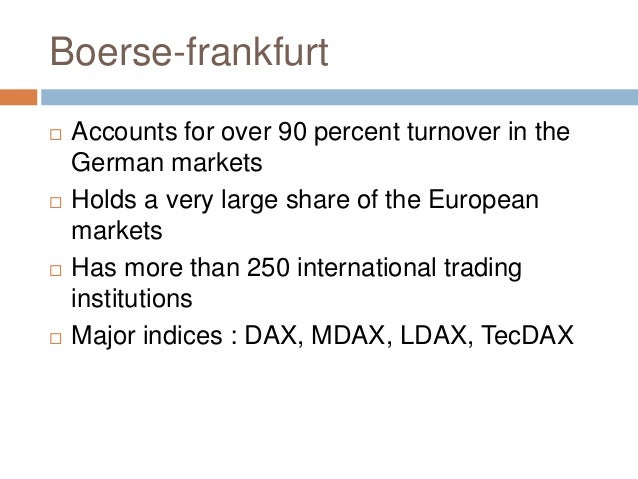 German stock indices : How to pronounce indices