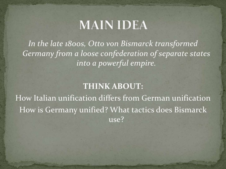 In the late 1800s, Otto von Bismarck transformed Germany from a loose confederation of separate states into a powerful emp...