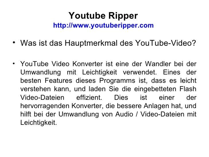 Youtube Ripper  Slide 3